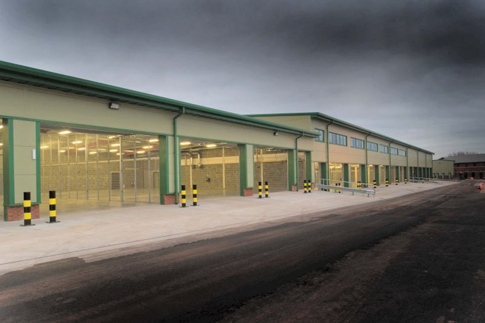 The new motor transport (MT) workshop and offices at Norton Manor Camp was delivered last year under the Regional Prime Contract for the South West - one of five existing contracts set to be replaced by the NGEC programme