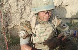 Lieutenant Jack Anrude from 40 Commando Royal Marines