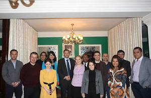 Welcome home event for the new Chevening alumni in Uzbekistan