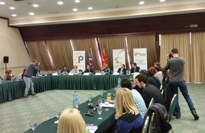 Debate on the importance of media as guardians of the public interest in Macedonia.