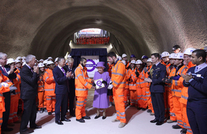 Her Majesty the Queen visits Crossrail at Bond Street