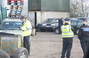 Officers carrying out site visit