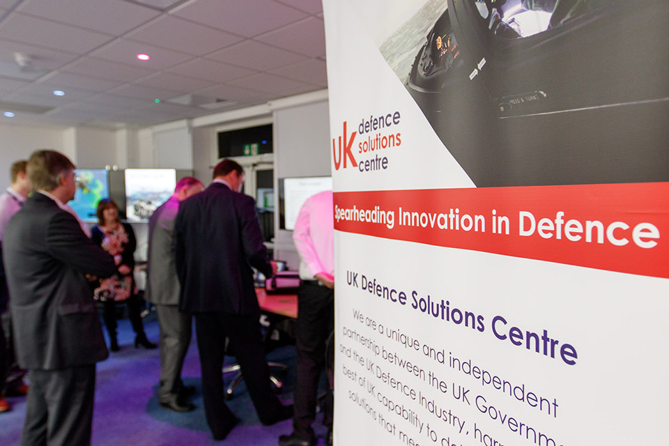 The event was an important opportunity to further develop relationships between the MOD and UK SMEs. Crown Copyright.