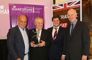Actor Roberto Carnaghi receives a Shakespeare Award