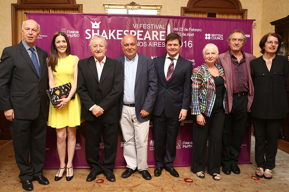 The Shakespeare Festival launch was held at the British Ambassador's Residence