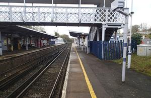 Image showing platform at West Wickham station