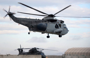 A Sea King Airborne Surveillance and Control Mk7 helicopter