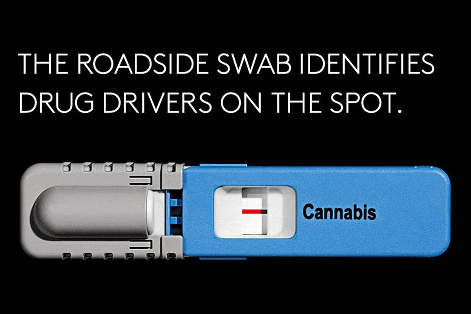 The roadside swab identifies drug drivers on the spot.