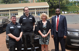 HE Alison Blackburne with URA official and NVCIS representatives