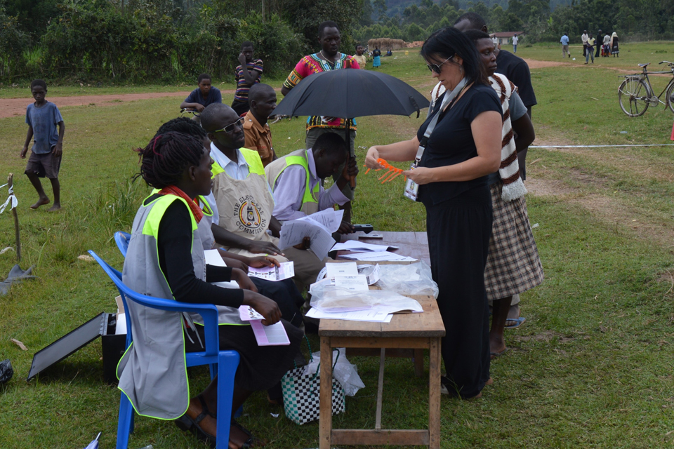 Observing elections in Kabale District, western Uganda