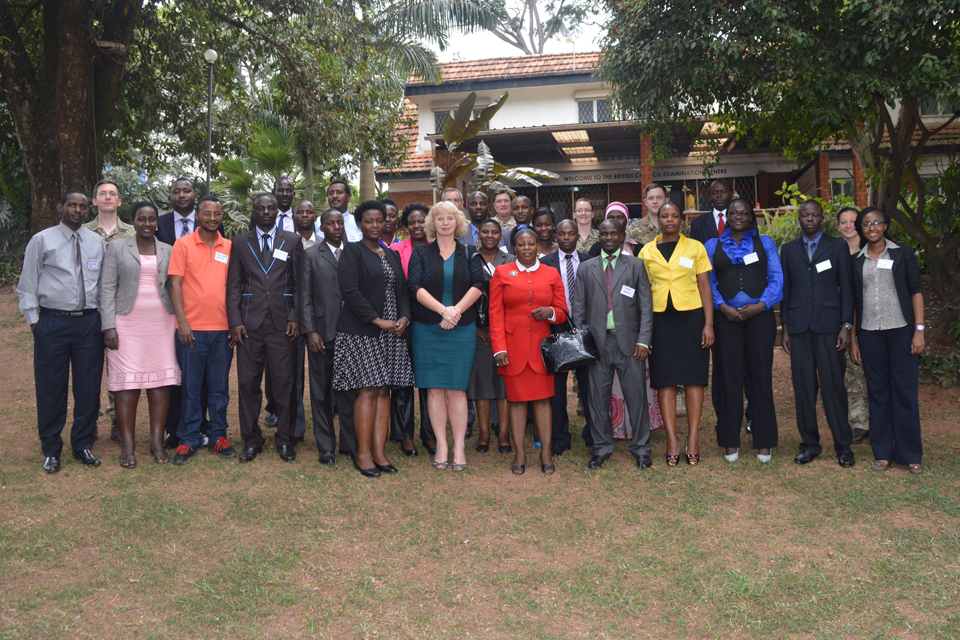 HE Alison Blackburne with course participants, officials from the UWA and members of the British Peace Support Training Team