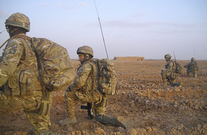 Soldiers from C Company, 1st Battalion The Princess of Wales's Royal Regiment, take part in Operation TORA GHAR in Helmand province, southern Afghanistan