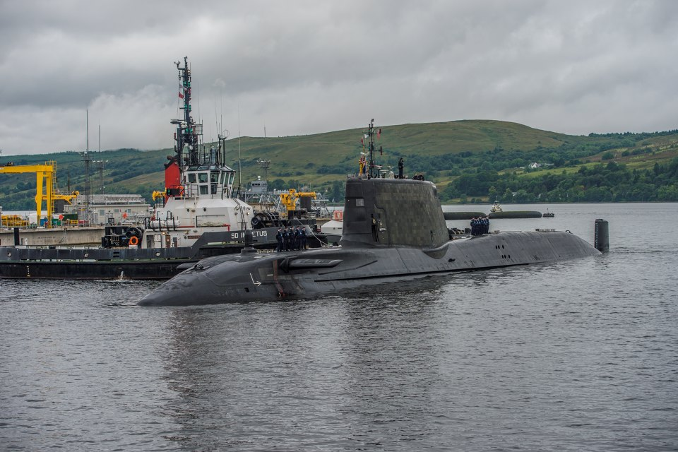 Artful is the first of the Royal Navy's submarine to get the new command and control system - the system will be rolled out across all Vanguard and current and future Astute class submarines.