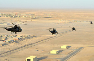 Sea King Mk4 helicopters