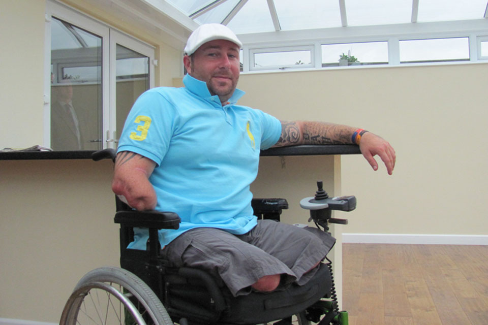 Guardsman Dave Watson inside his new home