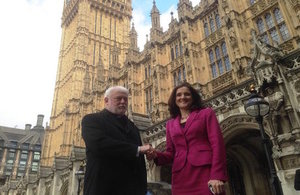 Theresa Villiers and Archbishop Gallagher