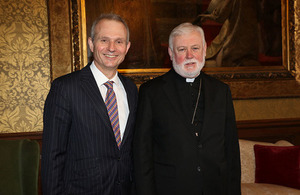 David Lidington and Archbishop Gallagher