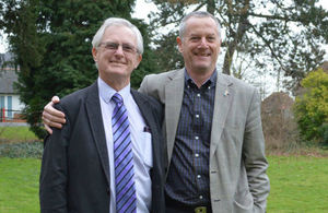 Steve Bewers and Mike Webley retire from the Environment Agency after a total of 92 years' service
