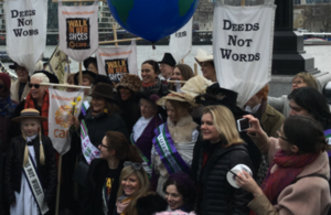 Justine Greening at Walk In Her Shoes march
