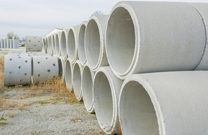 Large pipes of cement