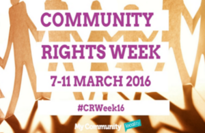 Community Rights Week 7 to 11 March 2016
