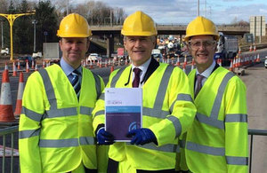 Andrew Jones holding the Northern transport strategy spring 2016.