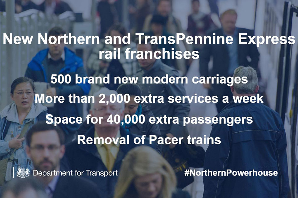 New Northern and Trans-Pennine Express rail franchises.