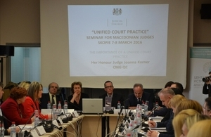 Seminar on unifying court practice in Macedonia