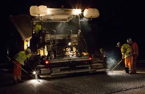 Highways England fixing a pothole.