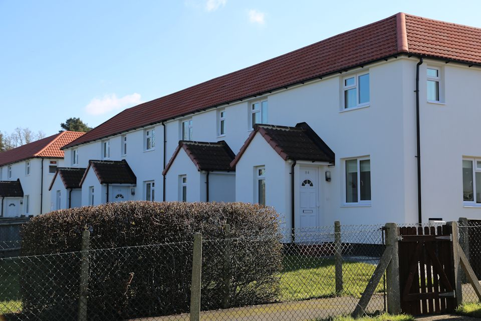 Refurbished service family homes at Keogh Barracks, Ash Vale (Photo: Nicole Herlihy, MOD Crown Copyright)
