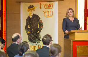 Minister for the Armed Forces speaking at the Churchill War Rooms on International Women's Day