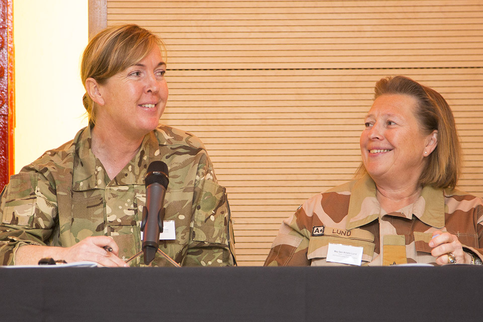 Major Rachel Grimes, Gender Advisor with Maj Gen Kristin Lund, Force Commander of the UN Force in Cyprus