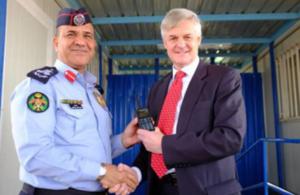 British Ambassador Hands Over Radio Equipment to Jordanian Police to Improve Safety in Azraq and Za'atari Camps
