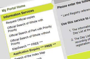 Application enquiry navigation