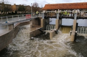 Molesey Weir being tested.