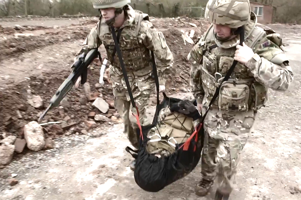 Designed by Gulf-war veteran Colin Smart and his company, the stretchers weigh just 1.5kg, compared to the weight of a standard stretcher of around 10kgs, and are capable of carrying three times the weight of an average soldier.