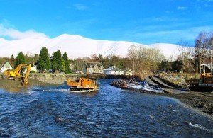 Recovery work in Keswick, Cumbria