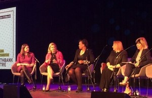 Justine Greening at the Women of the World Festival