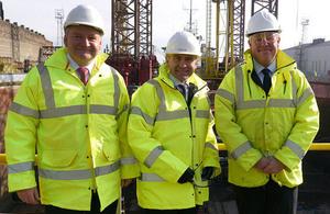 Transport Minister visits Cammell Laird shipyard.