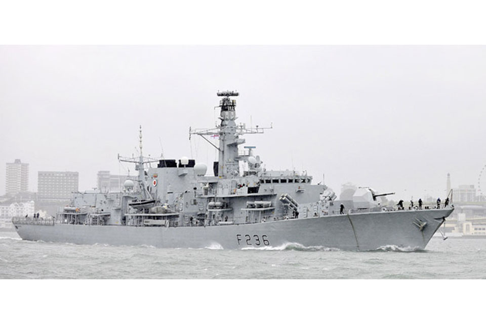 HMS Montrose is due to arrive in the South Atlantic mid-November 2011
