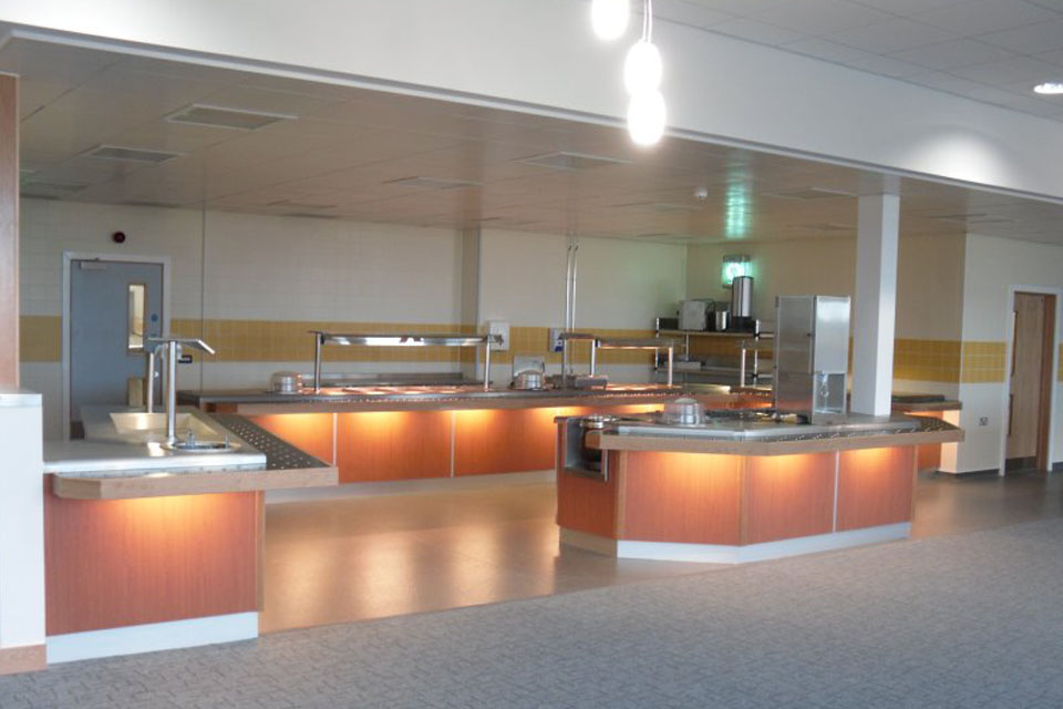 The new RAF Valley catering facility serves both officers and junior ranks.