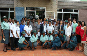 Workshop participants with the Deputy Minister of Health and Social Services and the British High Commisisoner