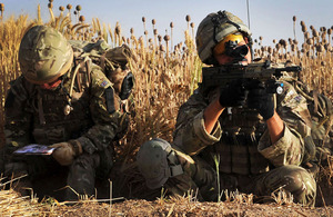 Members of 30 Commando Support Squadron engaged in an operation in Helmand province, Afghanistan