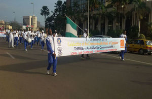 A sports walk organised on Saturday 12th March in Yaounde