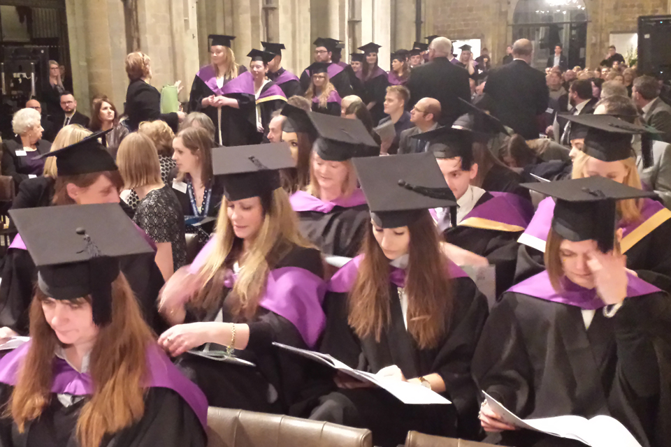 Apprentice Graduation Ceremony, Chichester Cathedral