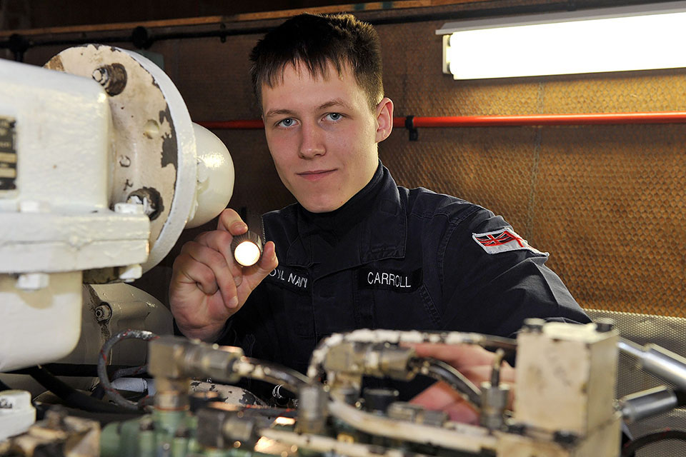Engineering Technician (Marine Engineering) Zak Carroll Royal Navy Crown Copyright