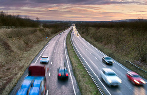 Traffic on the A64 in north Yorkshire.
