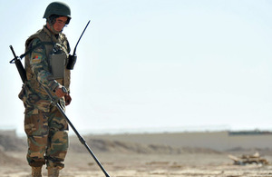 An Afghan National Army soldier