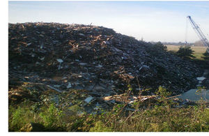 The very large pile of rubbish at North Runcton