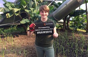 Jo Aitchinson, horticulture apprentice at the Eden Project